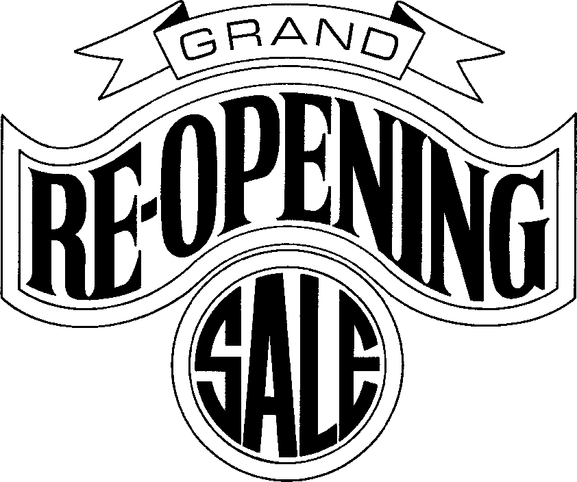 Grand Reopening Clipart.