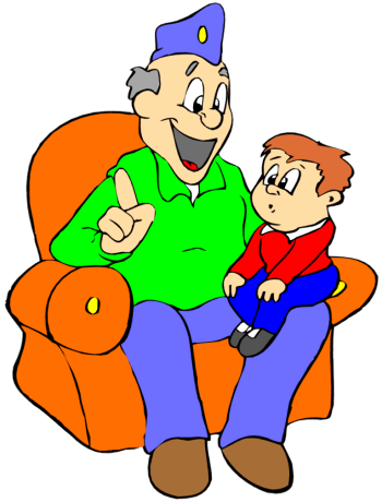Grandma And Grandson Clipart.