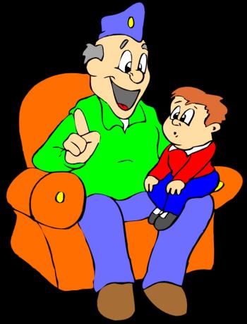 Grandma And Grandson Clipart.