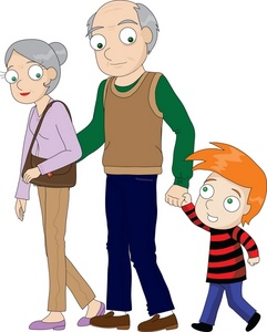 Grandma Grandpa And Grandson Clipart.