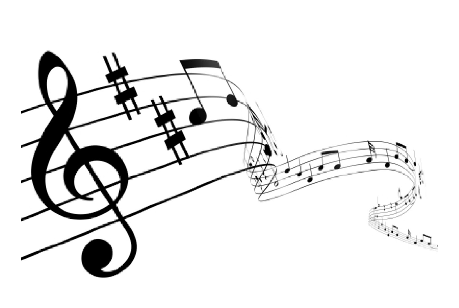 Music staff clipart.