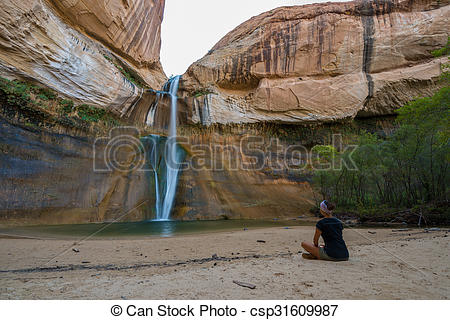 Pictures of Calf Creek Falls, Calf Creek Canyon, Grand.