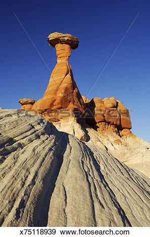 Stock Photograph of 'Toadstool Hoodoo , Grand Staircase.