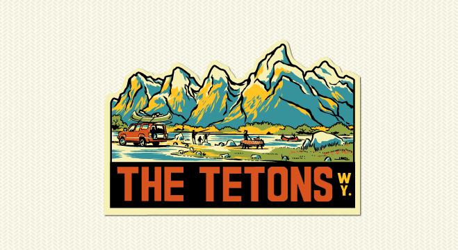 The Tetons..