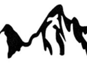 JACKSON HOLE Wyoming Grand Teton National Park Vinyl Sticker Decal.
