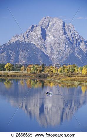 Stock Image of Grand Teton National Park in Autumn, Jackson.
