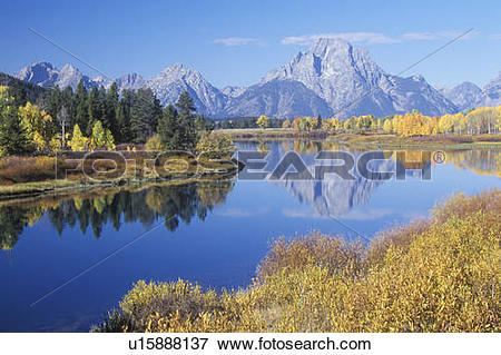 Picture of Grand Teton National Park in Autumn, Jackson, Wyoming.