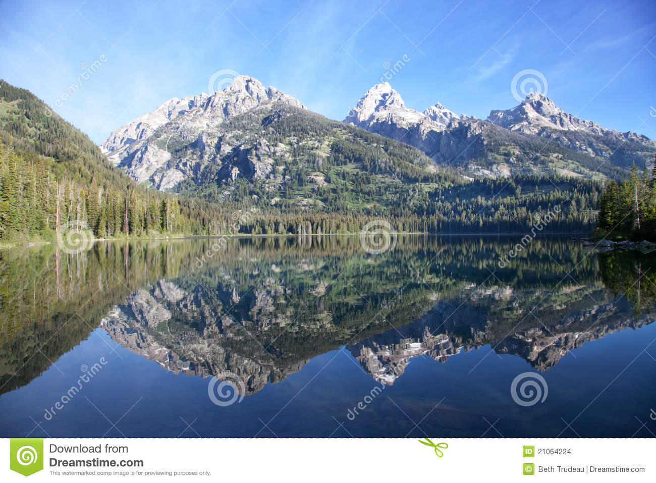 Taggart Lake Grand Teton National Park Stock Images.
