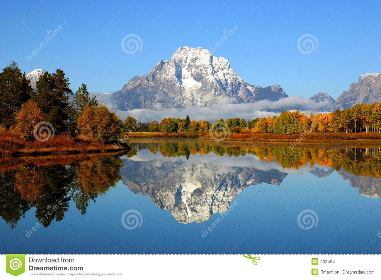 Grand Tetons Reflection Stock Images.