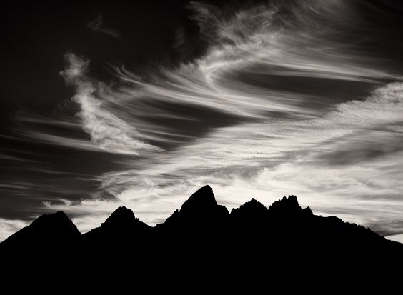 the grand tetons silhouette.