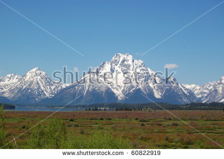 Grand Teton Mountains Stock Images, Royalty.