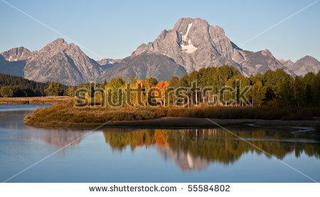 Grand Teton Mountains Stock Images, Royalty.