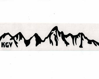 JACKSON HOLE Wyoming Grand Teton National Park Vinyl Sticker.