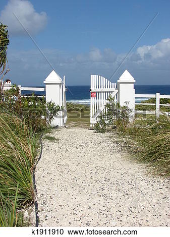 Stock Photography of Fence on Grand Turk k1911910.