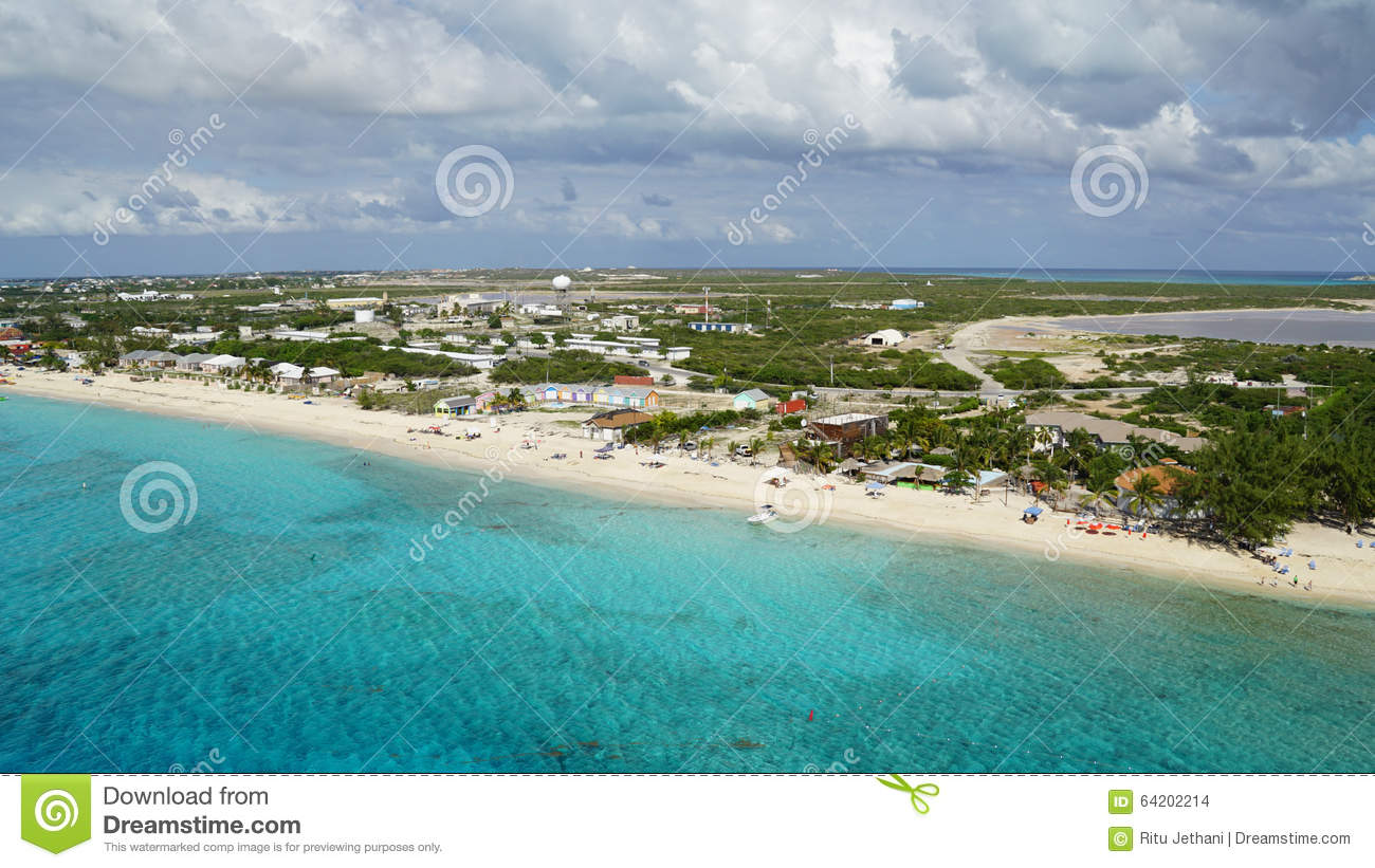 Grand Turk Island In The Turks And Caicos Islands Stock Photo.