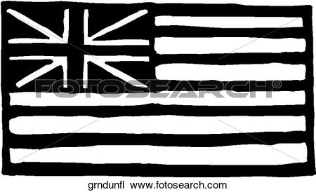 Clipart of Grand Union Flag grndunfl.
