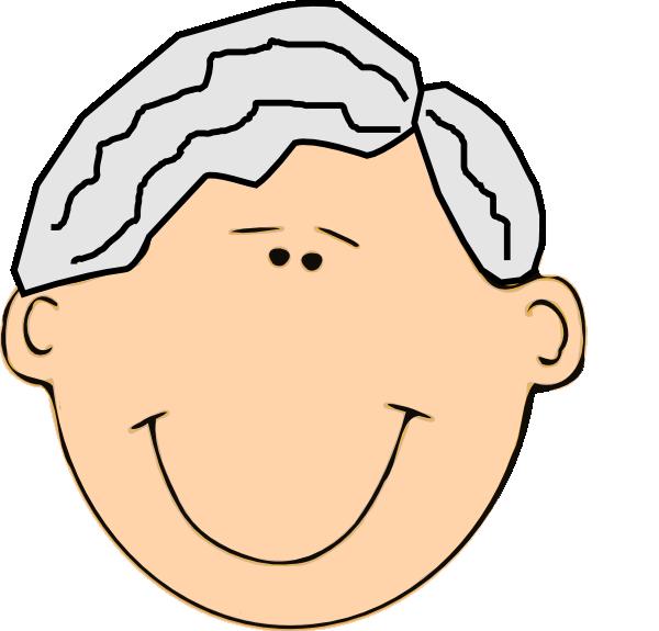 Grandpa Face Clipart.