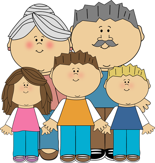 Grandchildren Clipart.