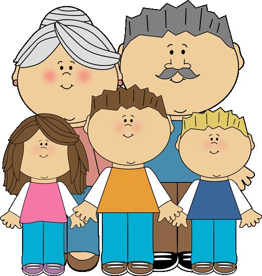 Grandchildren Clipart.