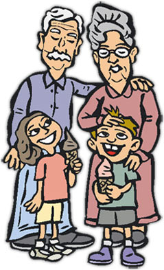 Grandchildren clipart free.