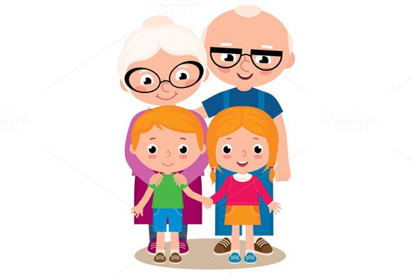 Grandchildren clipart free.