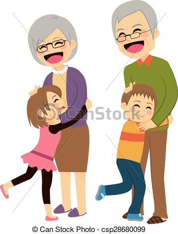 Grandchildren Clipart and Stock Illustrations. 409 Grandchildren.