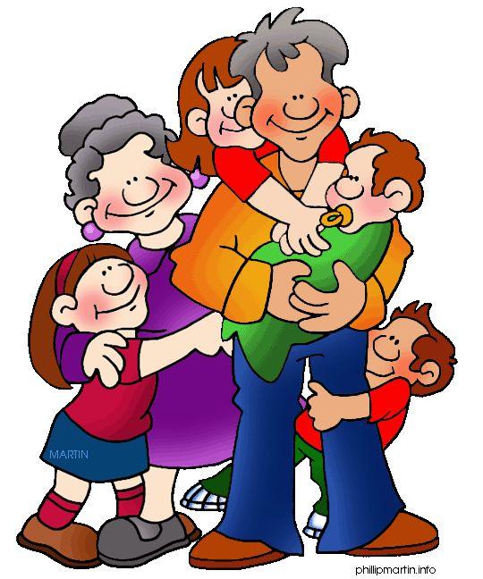 Grandparents and Grandchildren Clip Art.