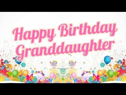 Happy Birthday Granddaughter.