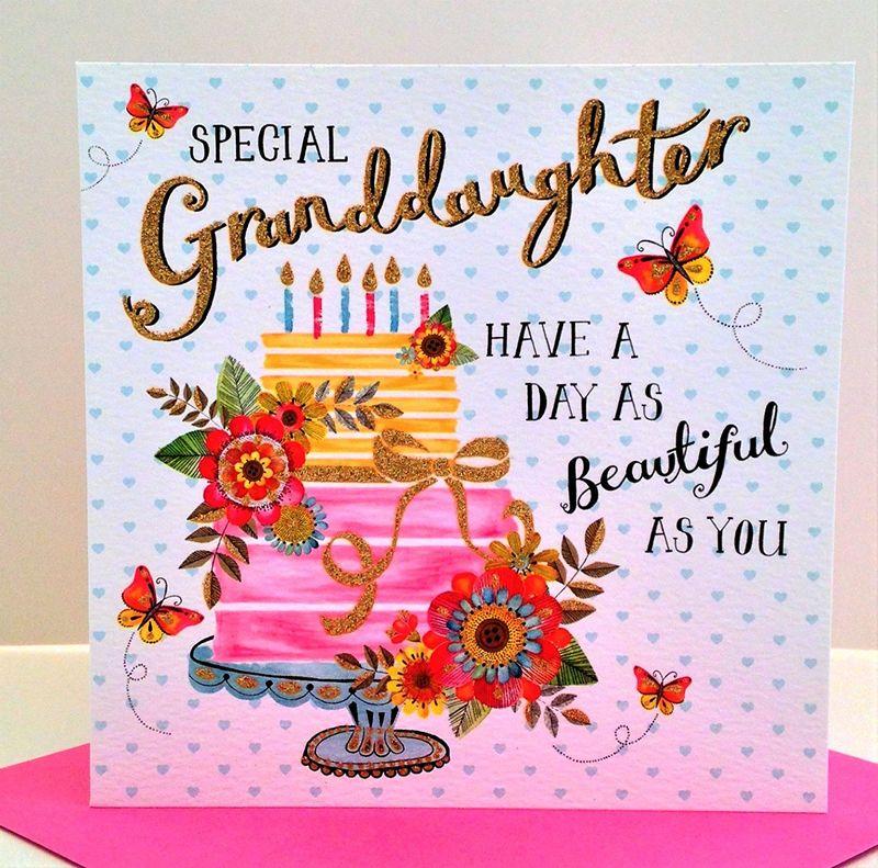 Special Granddaughter Birthday Card.