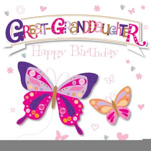 Happy Birthday Granddaughter Clipart.