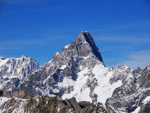 Mont Blanc And Grandes Jorasses Royalty Free Stock Photos.