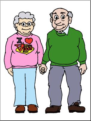 Clip Art: Family: Grandmother & Grandfather Color I abcteach.