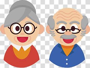 Grandfather and grandmother , Grandparent Adobe Illustrator.