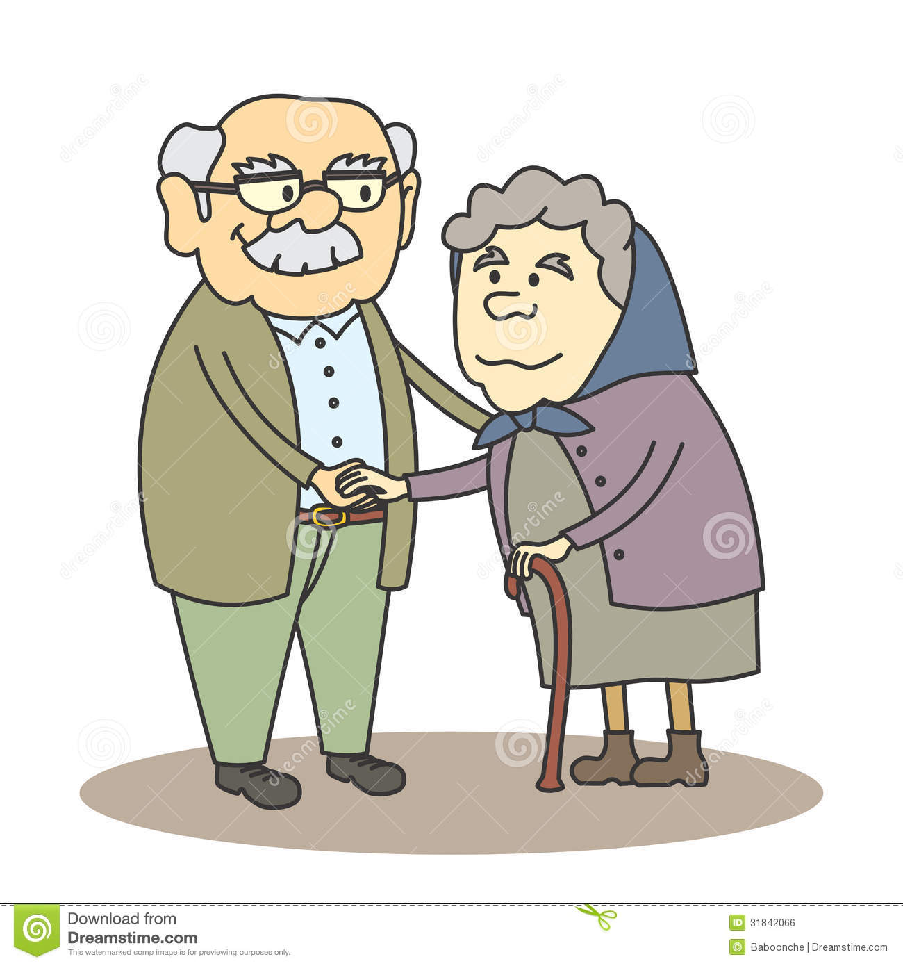 Grandfather and grandmother clipart 1 » Clipart Station.