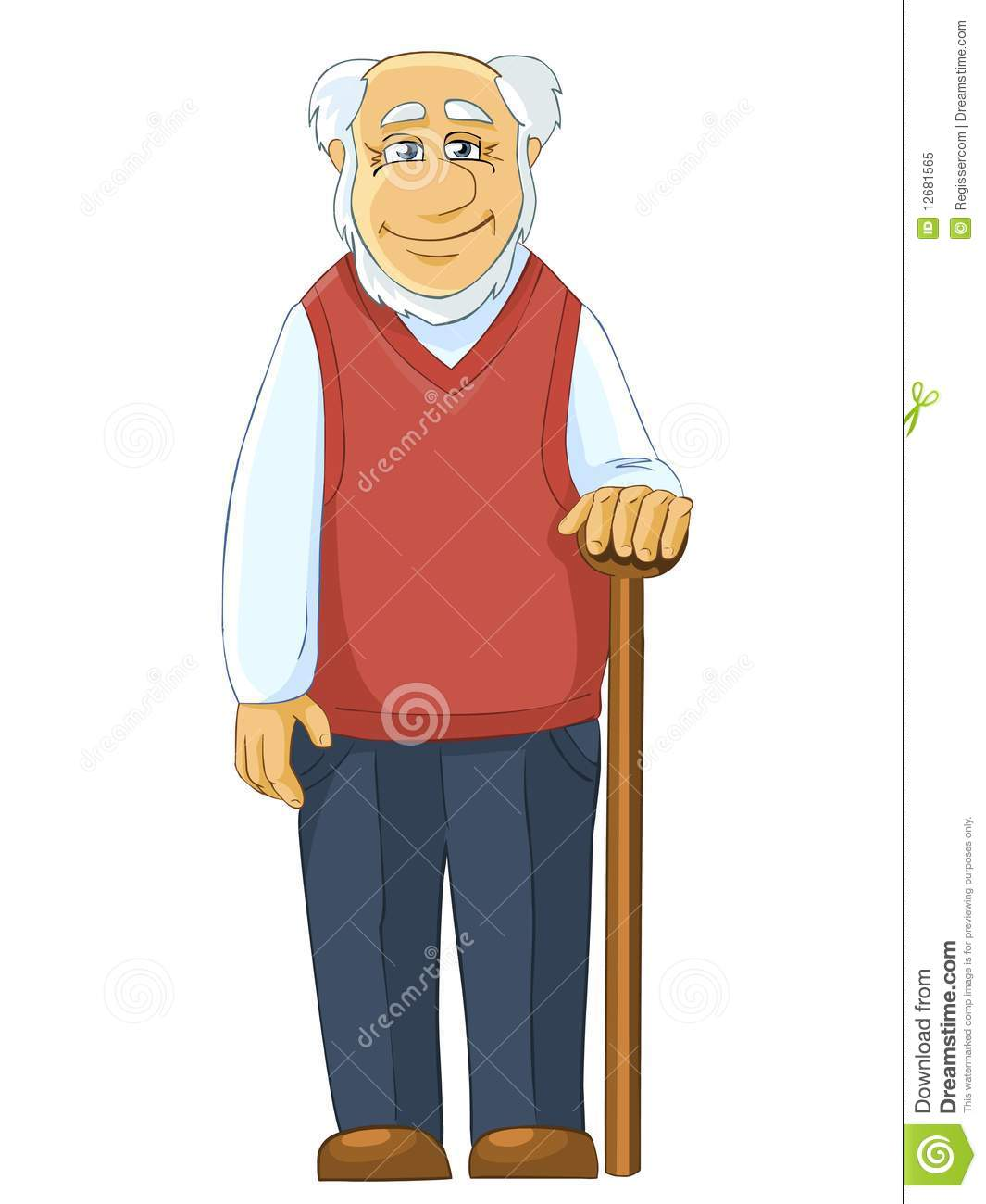 Grandfather Clipart.