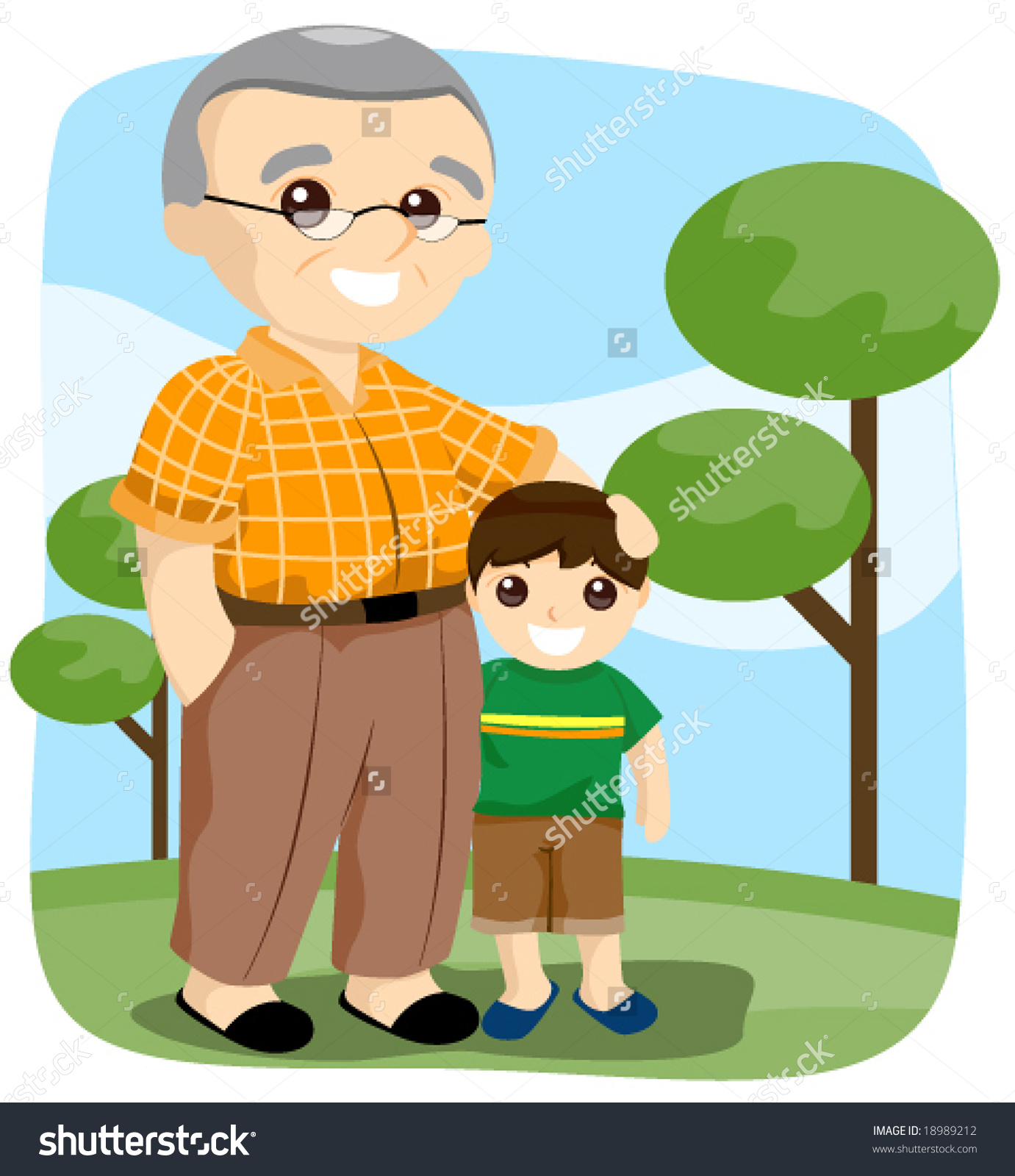 Indian grandfather clipart.