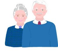 Grandparents Clip Art, Grandfather and Grandmother Graphics.