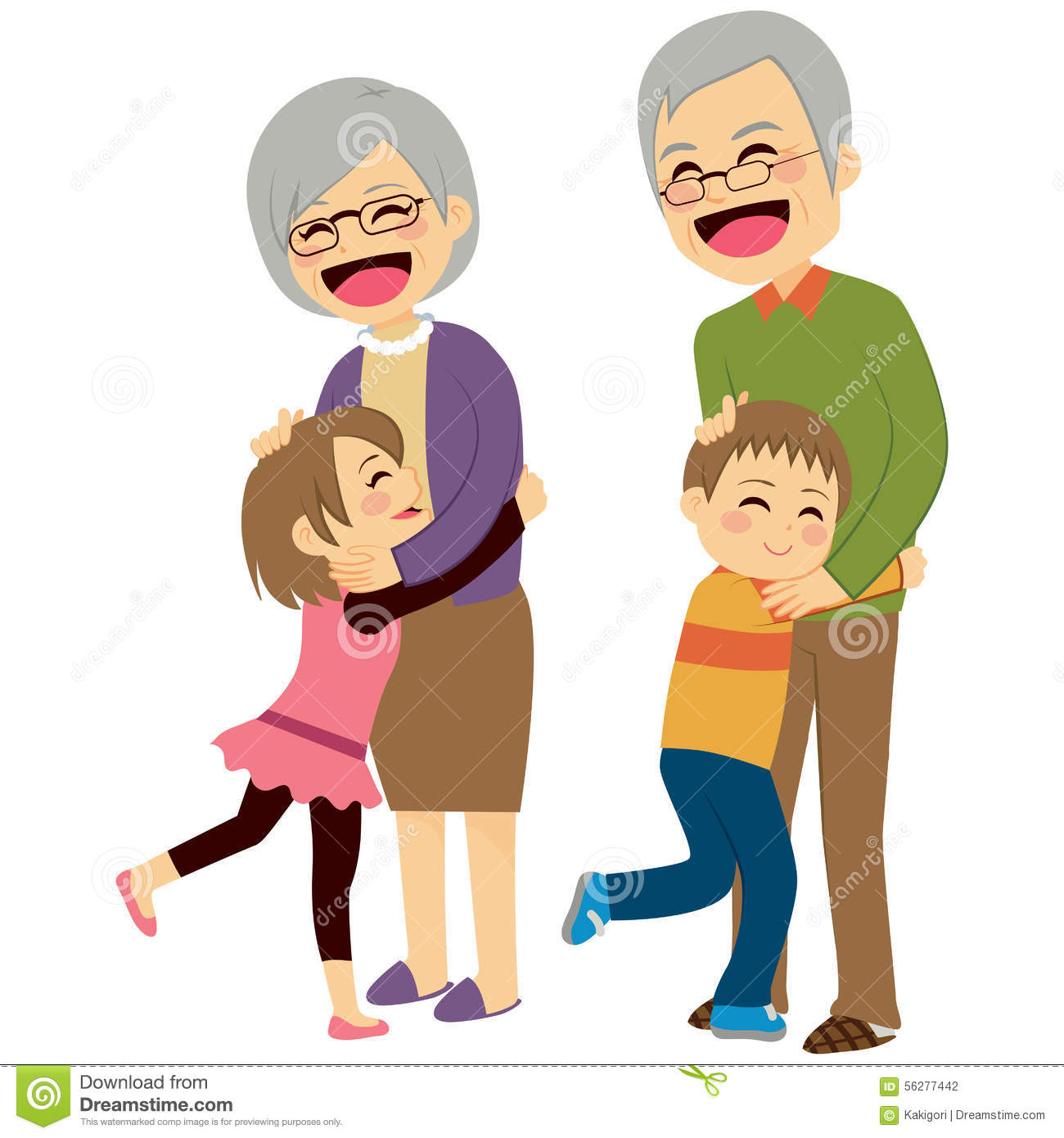 Free Clipart Grandparents With Grandchildren.