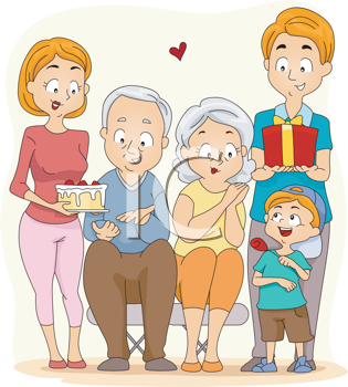 Grandparents Day Clipart.