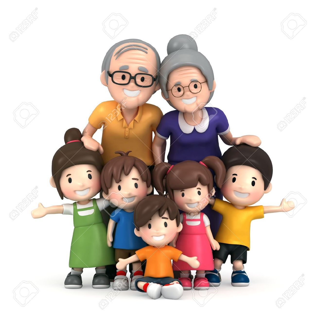 Clipart Of Grandparents With Grandchildren.