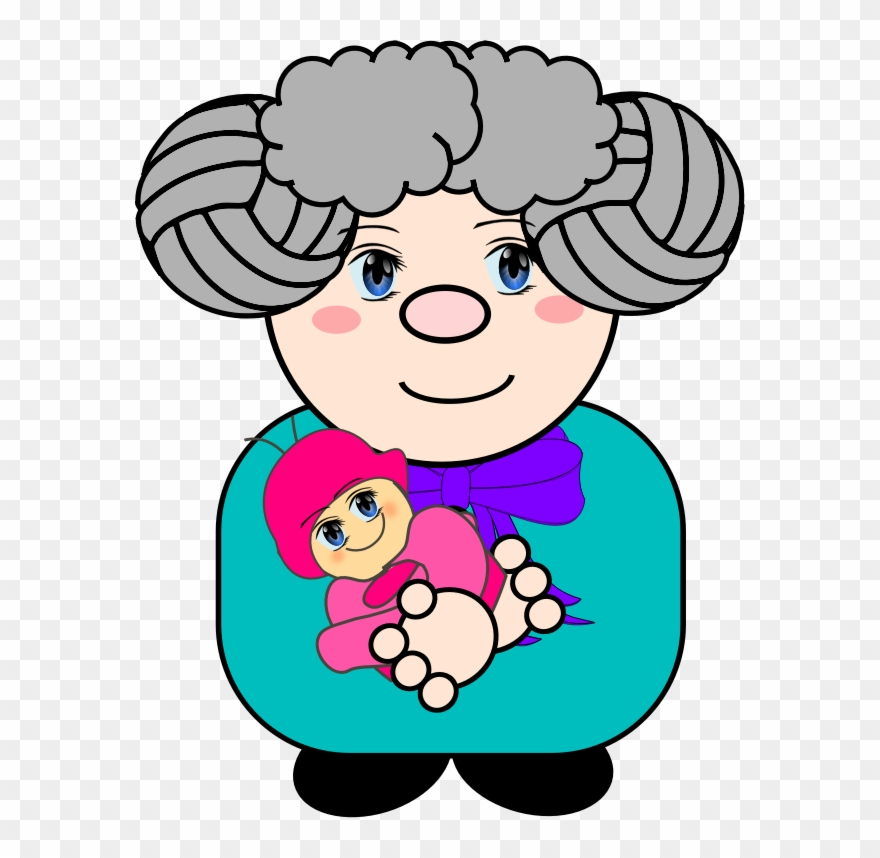 Clipart Grandma With Baby.