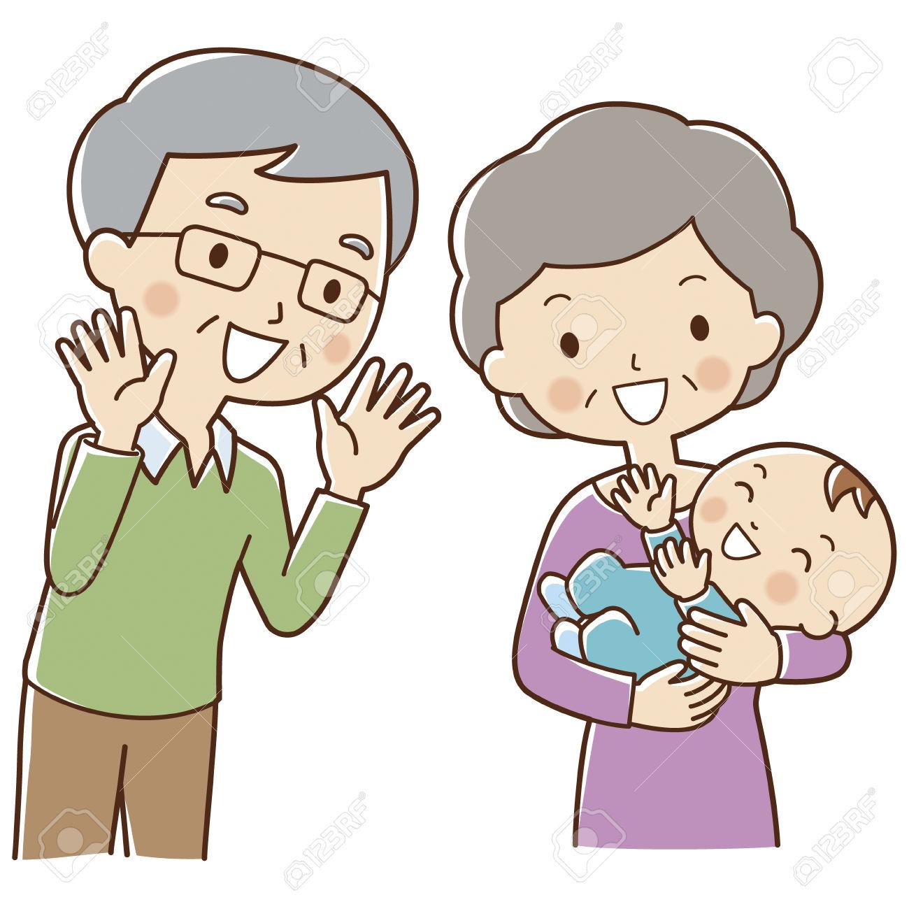 Grandma And Baby Clipart.