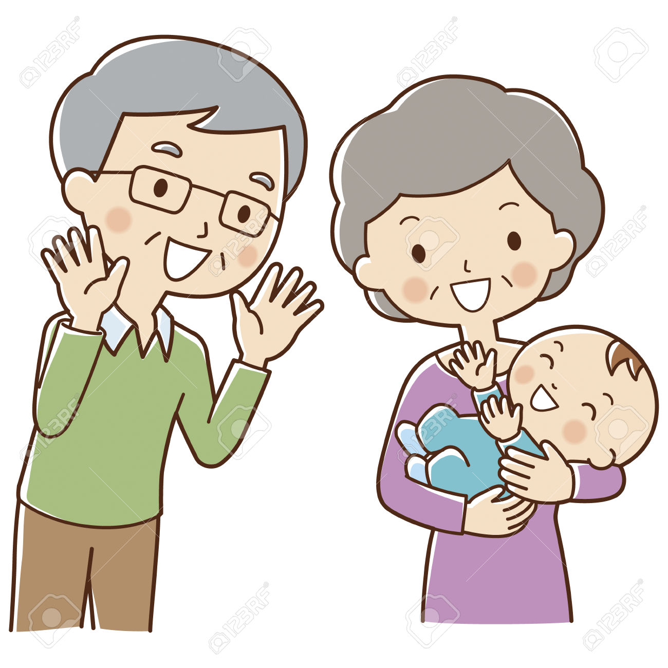 Grandma And Grandpa Clipart.