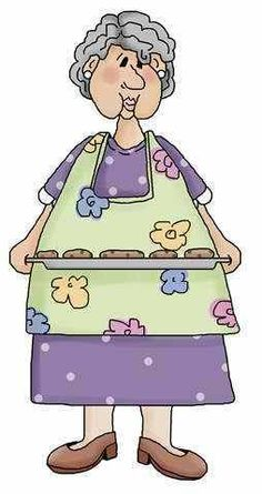 Showing post & media for Cartoon grandma with cookies.