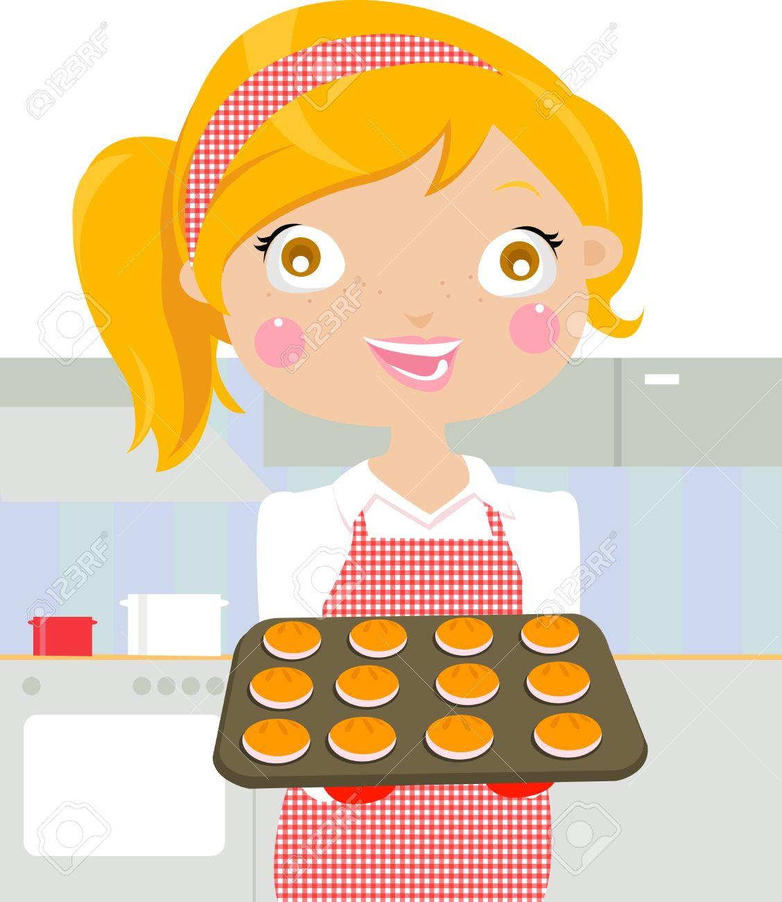 Baking Cookies Clipart.