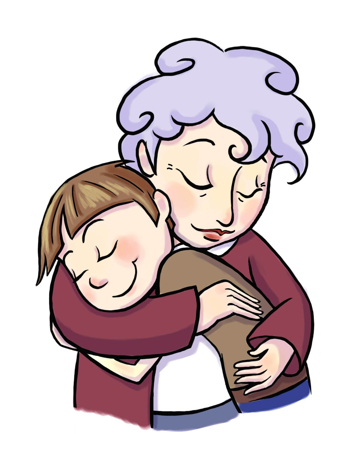 Hug clipart Best of Hug clipart grandma birthday Pencil and.