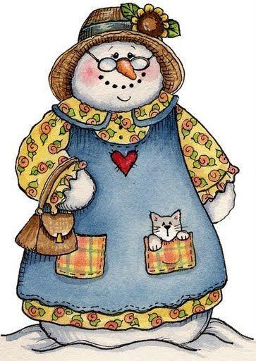 Grandma Snow lady.