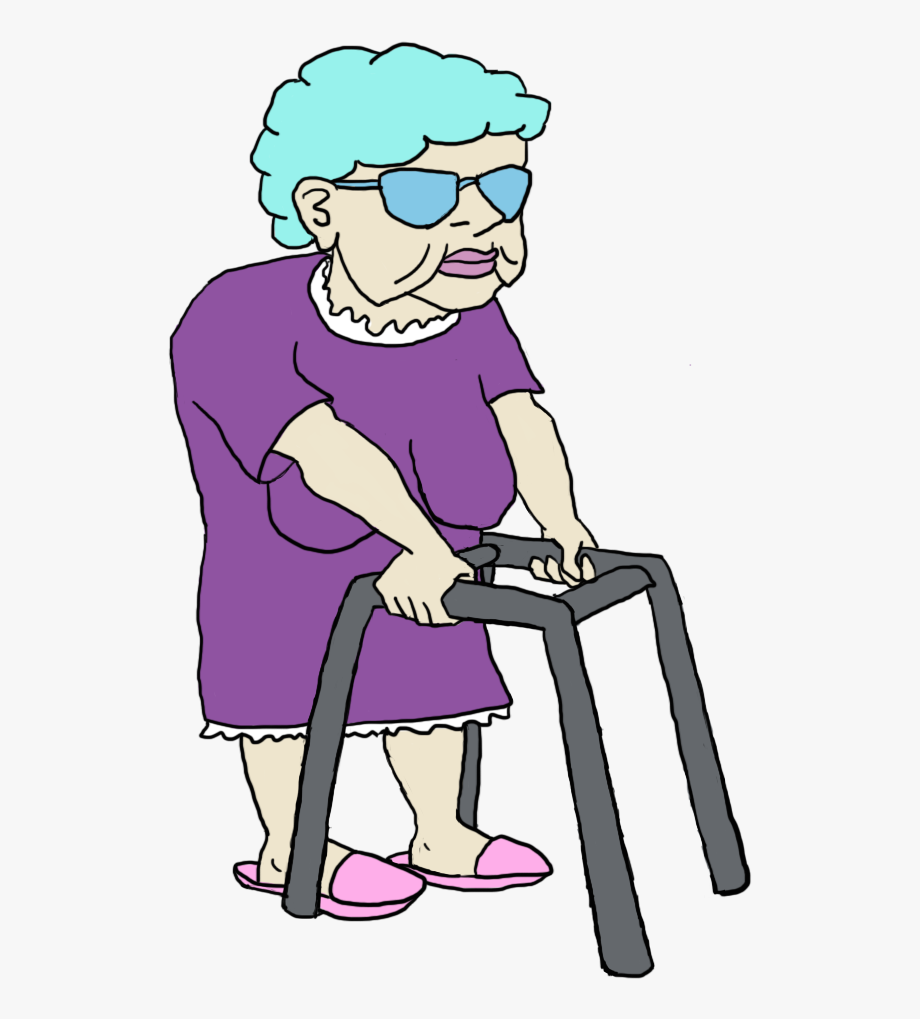 Grandma Clipart Walker.