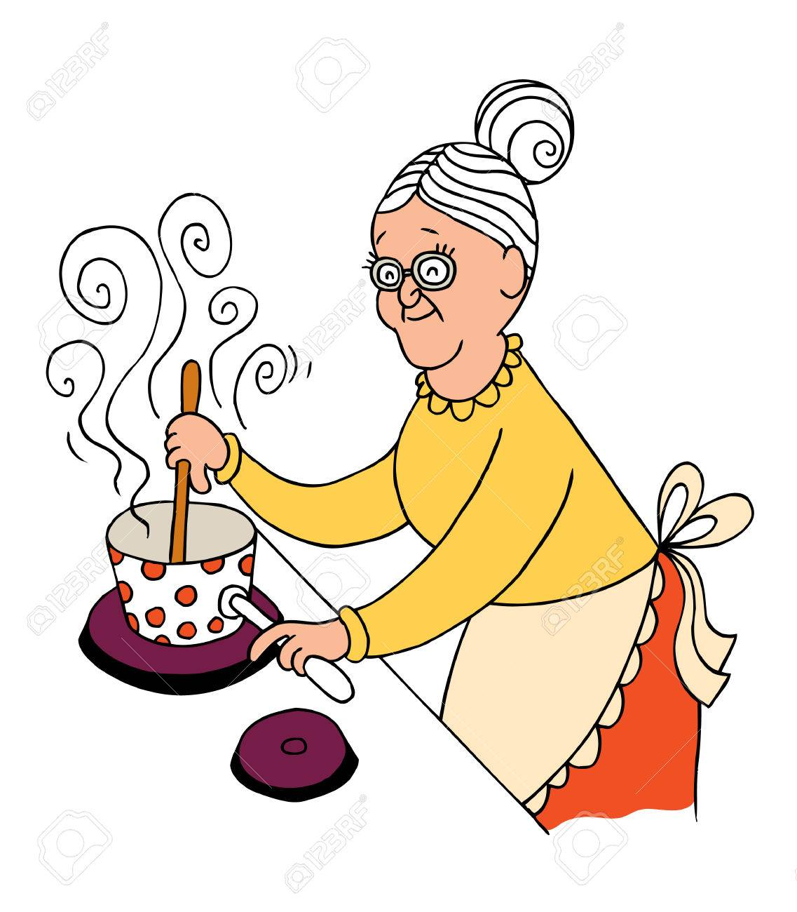 grandma cooking.