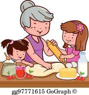 Grandmother Cooking Clip Art.